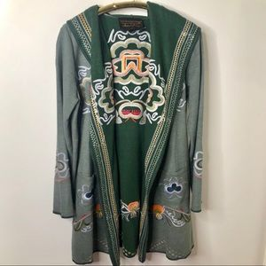 Soft Surroundings embroidered sweater cardigan